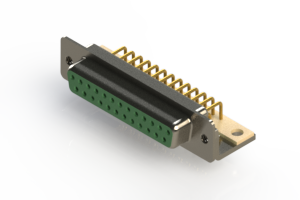 630-M25-240-GN4 - Right Angle D-Sub Connector