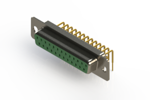 630-M25-340-GN1 - Right Angle D-Sub Connector
