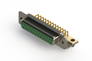 630-M25-340-GN3 - Right Angle D-Sub Connector