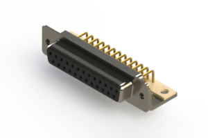 630-M25-640-BT4 - Right Angle D-Sub Connector