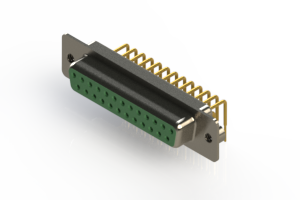 630-M25-640-GN2 - Right Angle D-Sub Connector