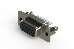 638-015-332-046 - Vertical D-Sub Connector