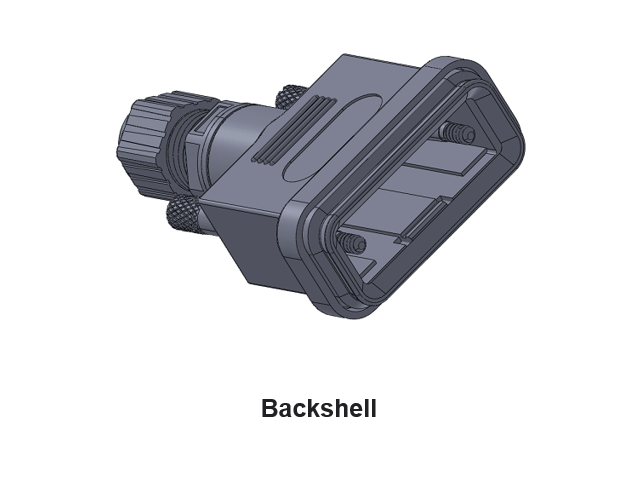 DB15 Connector d-sub backshell