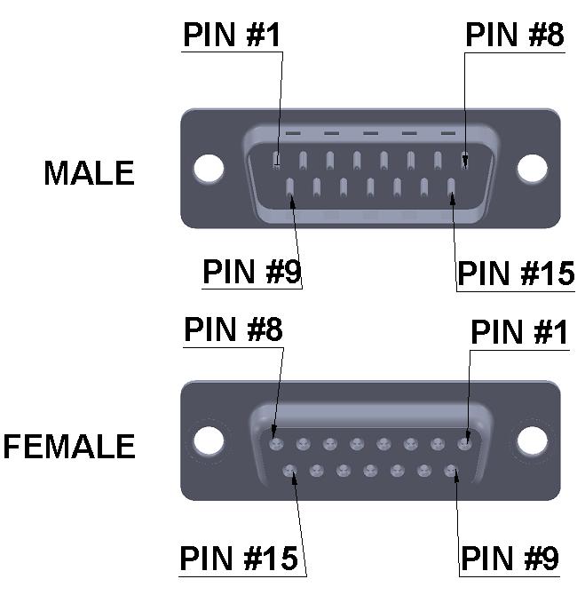 db15 d-sub connector