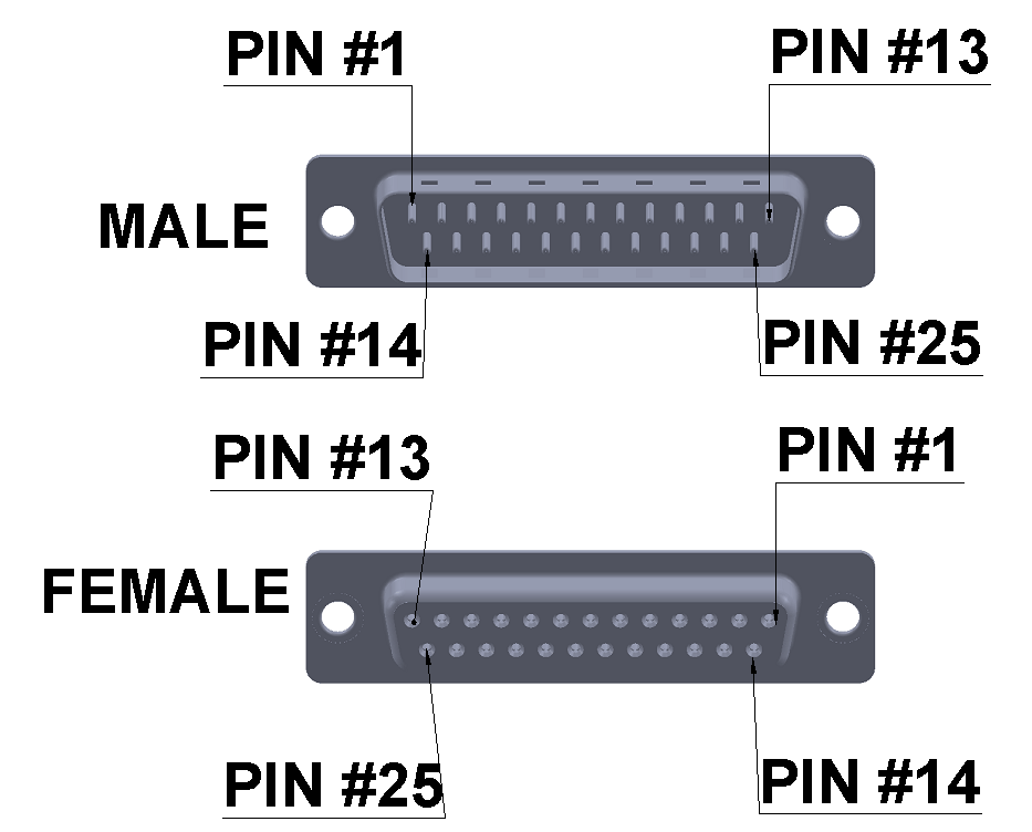db25 connector pins