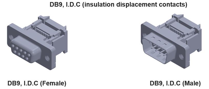 DB-9 D-SUB IDC