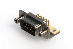 621-M09-260-BN6 - Right Angle D-Sub Connector