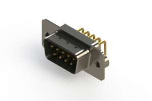 621-M09-260-GN2 - Right Angle D-Sub Connector