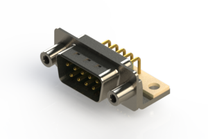 621-M09-260-GN6 - Right Angle D-Sub Connector