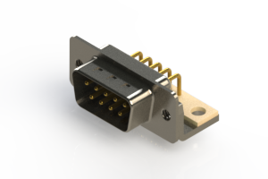 621-M09-260-WT4 - Right Angle D-Sub Connector
