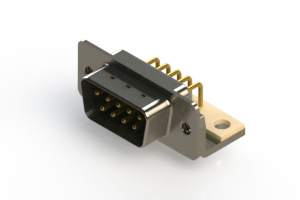 621-M09-360-GN4 - Right Angle D-Sub Connector