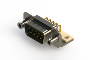 621-M09-360-GN6 - Right Angle D-Sub Connector