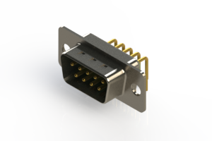 621-M09-360-GT1 - Right Angle D-Sub Connector