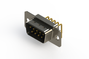 621-M09-360-LT1 - Right Angle D-Sub Connector