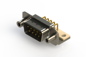 621-M09-360-WN6 - Right Angle D-Sub Connector