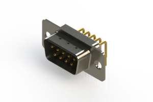 621-M09-360-WT1 - Right Angle D-Sub Connector