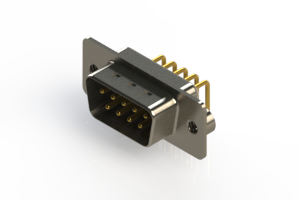 621-M09-360-WT2 - Right Angle D-Sub Connector