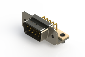 621-M09-360-WT3 - Right Angle D-Sub Connector