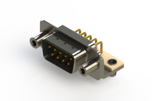 621-M09-360-WT5 - Right Angle D-Sub Connector