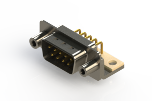 621-M09-360-WT6 - Right Angle D-Sub Connector