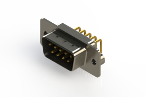 621-M09-660-BN2 - Right Angle D-Sub Connector