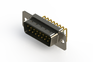 621-M15-260-GN1 - Right Angle D-Sub Connector