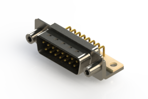 621-M15-360-BT6 - Right Angle D-Sub Connector