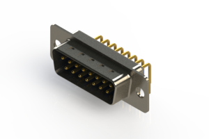621-M15-360-LT1 - Right Angle D-Sub Connector