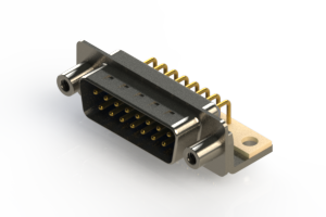 621-M15-360-LT6 - Right Angle D-Sub Connector