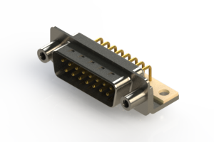 621-M15-660-WT6 - Right Angle D-Sub Connector