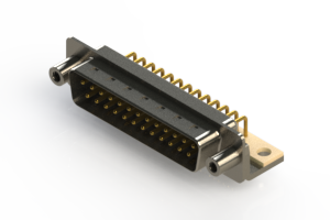 621-M25-260-WN6 - Right Angle D-Sub Connector