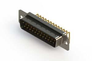 621-M25-260-WT1 - Right Angle D-Sub Connector
