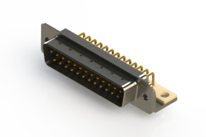 621-M25-260-WT4 - Right Angle D-Sub Connector