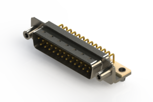 621-M25-260-WT5 - Right Angle D-Sub Connector