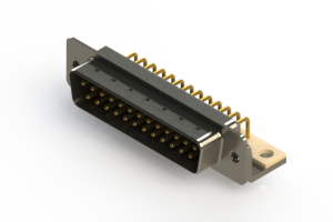 621-M25-360-BN4 - Right Angle D-Sub Connector