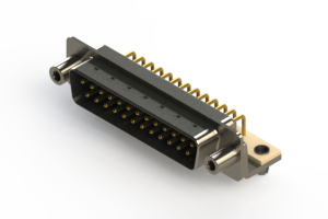621-M25-360-LT5 - Right Angle D-Sub Connector