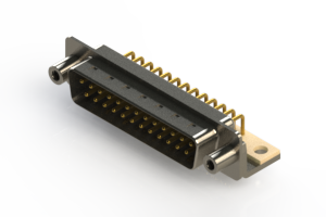 621-M25-360-WT6 - Right Angle D-Sub Connector