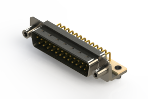 621-M25-660-GN5 - Right Angle D-Sub Connector