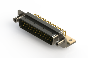 621-M25-660-GN6 - Right Angle D-Sub Connector