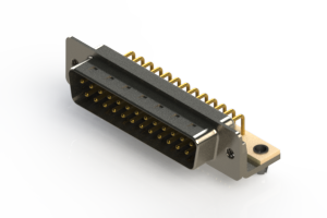 621-M25-660-WT3 - Right Angle D-Sub Connector