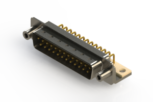 621-M25-660-WT6 - Right Angle D-Sub Connector