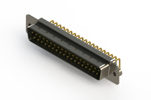 621-M37-260-GN2 - Right Angle D-Sub Connector