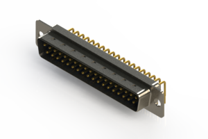 621-M37-260-LN1 - Right Angle D-Sub Connector
