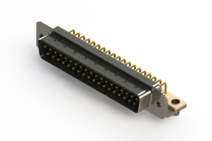 621-M37-260-LN3 - Right Angle D-Sub Connector
