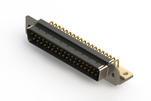 621-M37-260-LN4 - Right Angle D-Sub Connector