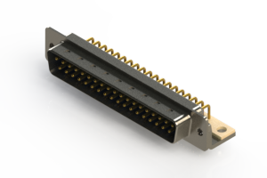 621-M37-260-LT4 - Right Angle D-Sub Connector