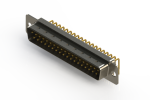 621-M37-260-WT1 - Right Angle D-Sub Connector