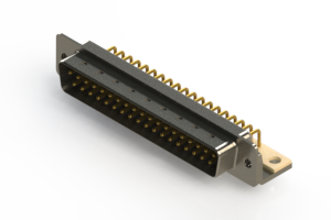 621-M37-260-WT4 - Right Angle D-Sub Connector