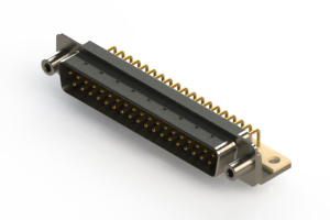 621-M37-260-WT6 - Right Angle D-Sub Connector