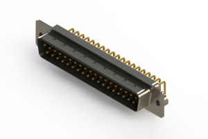 621-M37-360-BN2 - Right Angle D-Sub Connector
